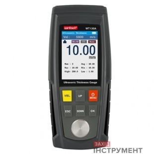 Товщиномір ультразвуковий кол. дисплей, 1-300мм WINTACT WT100A