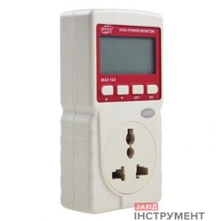 Вимірювач споживання електроенергії (ватметр) 16A BENETECH GM89