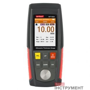 Товщиномір ультразвуковий кол. дисплей, 1-225мм WINTACT WT130A