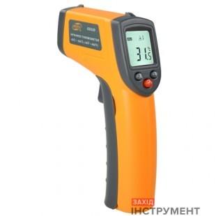 Бесконтактный инфракрасный термометр (пирометр)  -50-400°C, 12:1, EMS=0,95  BENETECH GM320