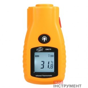 Бесконтактный инфракрасный термометр (пирометр)  -32-280°C, 8:1, EMS=0,95  BENETECH GM270