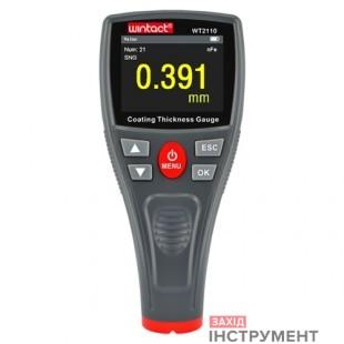 Товщиномір лакофарбових покриттів HD-дисплей Fe/nFe, 0-1500мкм WINTACT WT2110