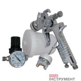 Набір фарбувальний пневматичний H-827з регулятором повітря, тип HVLP верхній пластиковий бачок, діаметр форсунок-1,3і 1,7мм AUARITA
