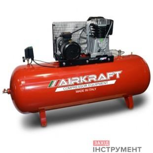 Компресор поршневий зремінним приводом, Vрес = 500л, 1070л/хв, 380V, 7,5кВт AIRKRAFT AK500-988-380