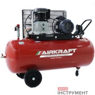 Компресор поршневий зремінним приводом, Vрес = 300л, 800л/хв, 380V, 5,5 кВт AIRKRAFT AK300-800-380