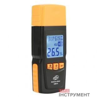 Вологомір деревини + термогігрометр 2-70% (28 порід, 4 типу) BENETECH GM610