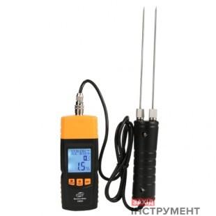 Вологомір деревини + термогігрометр 2-70%,виносний щуп (28 порід, 4 типи) BENETECH GM620