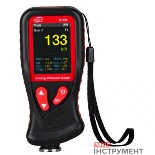 Товщиномір лакофарбових покриттів HD-дисплей Fe/nFe, 0-1300мкм BENETECH GT230