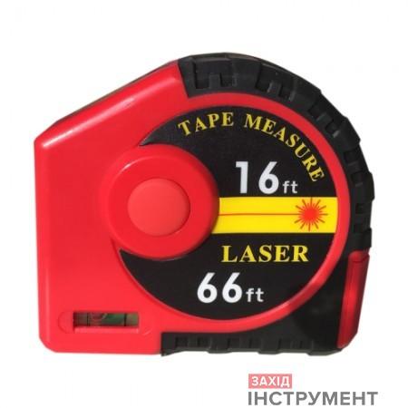 Далекомір лазерний/ рулетка 2-в-1 5м/ 20м